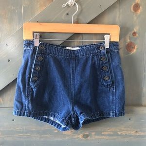 Free People High Waisted Denim Shorts Size 26